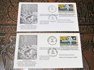 Two (2) 1969 First Man on Moon First Day Covers