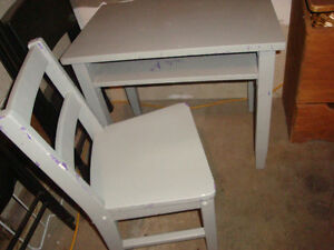 kids size chair and table / desk
