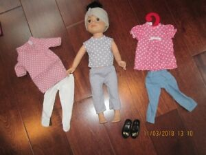 "18"" doll and outfits"