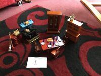 Dolls house furniture,