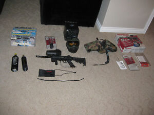 Complete Package Tippmann A5, E trigger, and a ton of extras
