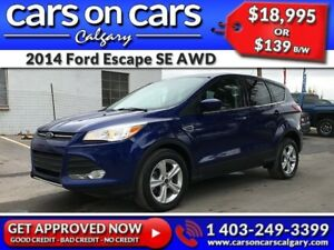 2014 Ford Escape SE ECOBOOST AWD w/BlueTooth, BackUp Cam, USB Co