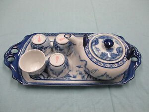 Vintage Bombay Blue /White 8pcs of china tea set in original box Stratford Kitchener Area image 2