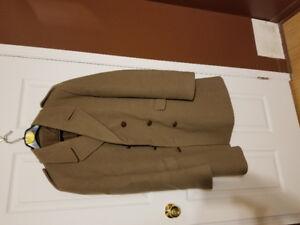 Pure wool men's camel winter coat