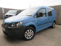 VW VOLKSWAGEN CADDY MAXI 5 SEATS C20 LWB 1.6 TDI 2013 FULL SERVICE HISTORTY VGC