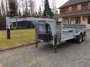 Remorque dompeur K-Trail 16' galvanizée 2015, très peu servi