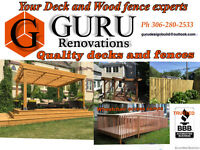 Deck, fence, wheelchair ramps and removal of old fence and deck
