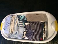 Newborn boys clothes and bath