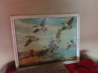 Hand painted Canada goose vintage painting