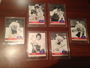 6 Autographed Hockey Cards