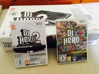 Wii Dj hero 1&2 & decks