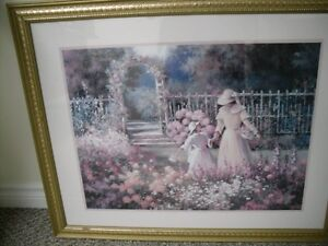 Lady with Child in a flower garden
