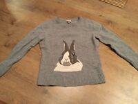 Merino wool jumper - rabbit desifn