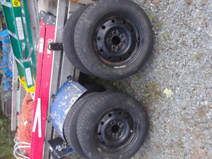 "195/65  15""    tires for sale winter used steel rims come off 20"