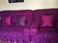 Sofa covers purple color