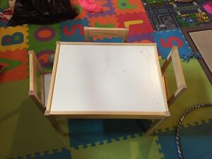 Children's desk and 3 chairs