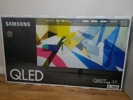 """2020 Samsung QE49Q80T 49"""" (4K) QLED Smart TV. Condition is """"New""""."""