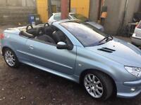 55 Peugeot 206 1.6HDi 110 2005MY Coupe Cabriolet Allure SERVICE HISTORY WARRANTY