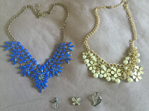 Costume Necklaces and Three Pendants