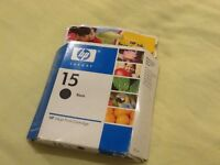 HP15 Black Inkjet Cartridge 25ml - C6615DE - genuine unused & sealed in original box