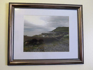 Framed photograph row boat in the Viking Village