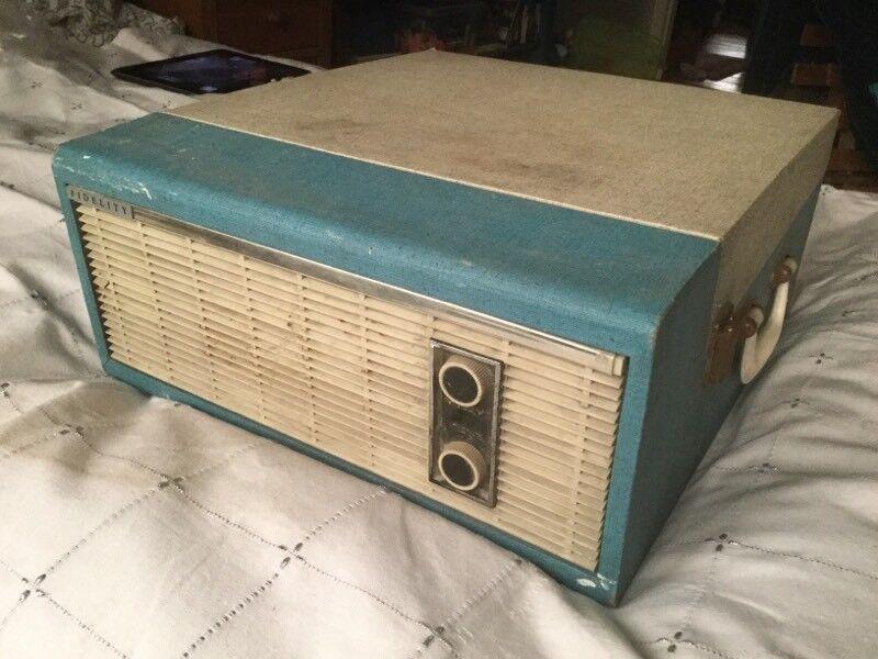 Vintage 1960s Fidelity record player.