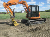 Excavator and skid steer services in the Gp area