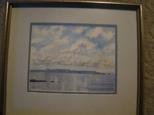 Sleeping Giant Water Colour Picture in frame