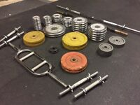 Various Bars and Cast Iron Weights