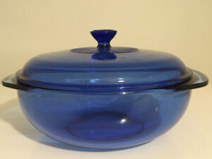 Cobalt Blue Pyrex Dishes and Blue Canisters