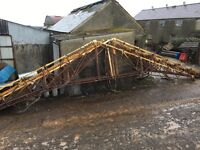 A frame metal roof trusses