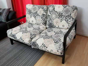 IKEA 2-Seater Loveseat Couch Sofa Wooden Black