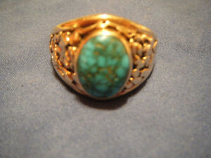 GOLD & TURQUOISE RING BY ELIAS