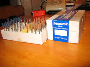 GESSWEIN BLUE & BROWN MOUNTED POINTS & GRINDERS Peterborough Peterborough Area image 3