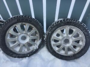 two   205/55/16 winter tires on factory rims hyundai sonata