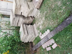 Concrete slabs 23.5 in x 23.5 in and 18 in x 18 in