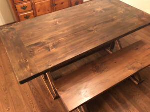 HARVEST TABLE & BENCH