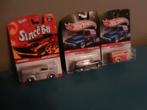 Hot Wheels Dairy Delivery,55 Chevy Panel,64 GMC Panel Real Tires