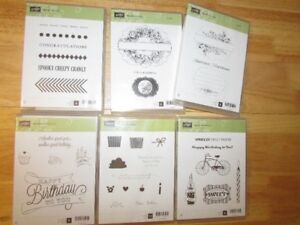 Stampin' Up Clear Mounted Stamp Sets - most brand new/used