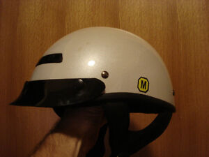 white motorcycle helmet size Medium