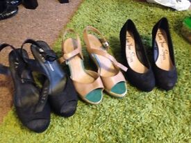 Size 7 wedges £4 for all 3