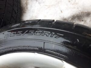 Cooper Tire Zeon RS3-A Tires 205/50R17 on Stock Mazda Rims.