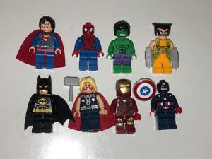 NEW!! All 8 BATMAN, SUPERMAN Super Hero LEGO Men Figures