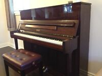 1994 Petrof Upright Piano with a High-polished Cherry Finish