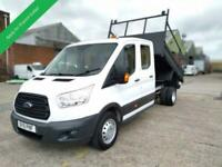 2015 15 FORD TRANSIT DROPSIDE TIPPER DOUBLE CAB / CREW CAB 6 SPEED TDCI WITH STE