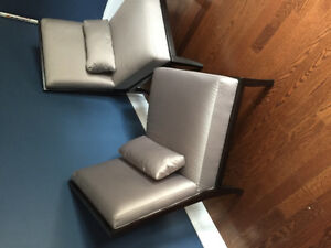 Two great condition armless chairs (set of 2)