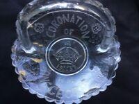 King George VI commemorative bon bon dish