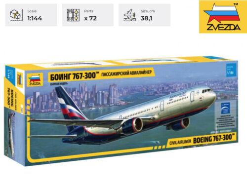 BOEING 767-300 Zvezda Model Kit 7005 Civil Airliner Scale 1/144
