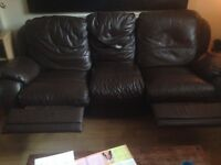 3 seat leather sofa great condition