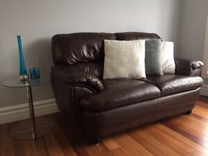 Italian Leather LoveSeat Couch